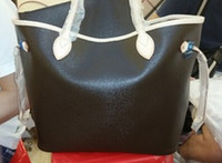 Wholesale Top quality women genuine Leather neverFULLy handbag Large tote bag purse