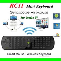 Wholesale Gyroscope Mini Fly Air Mouse RC11 GHz Wireless Keyboard For Google Angle Android Mini PC TV Palyer BOX XBdroid Mini PC TV Palyer BOX XB