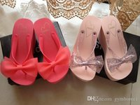 Wholesale 2015 New SNIDEL women high heeled sandals slippers thick crust cm muffin bow sandals beach slippers Flip flops HKPOST