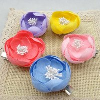 Cheap Hair Things Hair Slides Baby Hair Accessories Flower Clip 2015 Korean Fabric Flowers Barrettes Childrens Accessories Girl Hair Clips C13809
