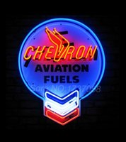 aviation sign - Chevron Aviation Fuels Neon Sign Brand New Neon Sign W X H X D Avize Neon Nikke Air Jorddan Sign Glass Tube Neon Light Sign