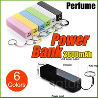 iphone4s cell phone - 2600mAh Cell Phone Chargers USB Perfume Power Bank For Iphone4s s Plus For Galaxy S3 S4 S5 S6 S6 Edge
