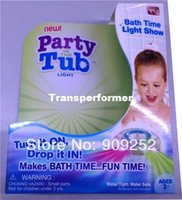 Cheap Party in the tub light bathtub light-up toy Waterproof Led Light Toy PreTeens Bath Tub Tizzies 60pcs lot
