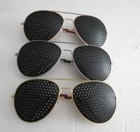 Wholesale Aperture glasses pinhole glasses poor eyesight correction of myopia hyperopia astigmatism strabismus factory outlets