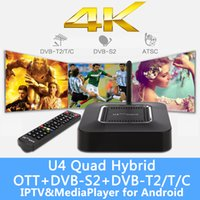 Wholesale 4K H Android DVB U4 S2 Hisilicon Hi3796M Quad Core Wifi Xbmc KODI Loaded Satellite TV Receiver TV Box