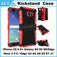 apple compact - Hybrid Compact Heavy Duty Robot TPU PC Stand Case Cover for iPhone S Plus Galaxy S5 S6 Edge Note3 Note4 Note5 Sony LG HTC Kickstand Case