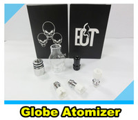 Cheap New Glass Globe Bulb wax atomizer tank vaporizer kit with two core coil head for in Retail Package for Ego Evod Electronic Cigarette battery