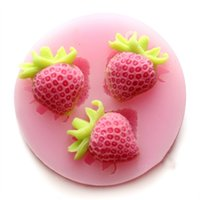 candle mold silicone - 3D Strawberry silicone mold soap fondant candle molds sugar craft tools jelly candy chocolate moulds Ice Tray mould Cake baking mold tool
