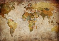 Cheap oil painting on canvas,Vintage map , world map ,High pdi map,Fashion decorative painting antique world map treasure decorative