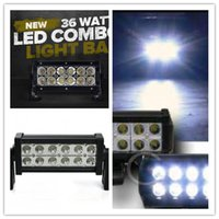 Wholesale 7 inch W led light bar x4 LM offroad w led work light Tractor Boat OffRoad ATV truck driving fog lamps spot flood