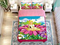 alternative case - Girl princess butterfly flower bed duvet cover pillow cases comforter bedding sets home textile Filler alternative