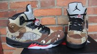 Wholesale 2015 hot sale top quality and cheap j5 Supreme x dan Camo man sneaker shoes size eur