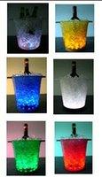 Plastic light up bucket - Color changing plastic led ice bucket nightclubs LED light up ice bucket Champagne wine beer bucket bars