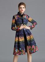 big coated polyester - European and American big beautiful wool dress coat thick coat Long coat
