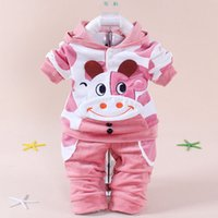 Wholesale Kids Baby Girls Boys Toddler Velvet Pants Cow Calf Hoodie Sweatshirt Outfits Set