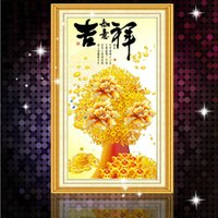 gold bullion - Diamond Pasted Cross Stitch Diamond Painting Lucky Series Gold Ingot Fortune Bullion Office Home Decoration
