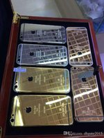 Wholesale 24K Gold Plating Battery Back Housing Cover Skin for iPhone S S plus quot kt ct Limited Edition Gold Back Cover Housing