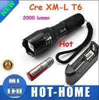 Para encajar a presión el precio de coste 1 fijó la linterna impermeable de la vida de Zoomlight del LED del lumen XML Lumen XML del tacto Cree XM-L T6 de E4 de UltraFire E17, envío libre