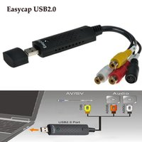 Wholesale USB Video Easycap TV DVD VHS Capture Card Audio AV Easiercap Adapter for Computer