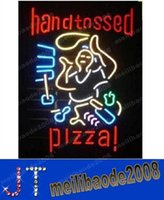 pizza sign - handtossed pizza neon sign store display beer bar sign Real Neon quot MYY12763A