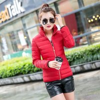 Wholesale The new cotton dress size slim slim jacket thick winter all match short down jacket padded female