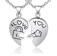best chain locks - The best Valentine s Day gift Couples necklace lock and key pendant necklace