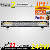 Wholesale Osram W Inch LED Work Lighting Bar Combo Beam Offroad for Jeep GMC Ford Pickup Car x4 UTV SUV ATV Camper Truck