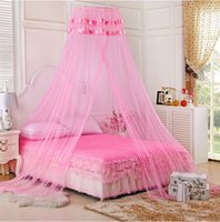 Cheap Wholesale-Lace Princess Mosquito Net Canopy For Twin Full Queen Bed Size Bites Protect