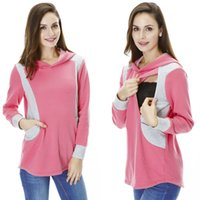 knit wear - Maternity Sweater Nursing clothes Warming patchwork Breastfeeding tops maternity Hoodies autumn and winter casual wearing