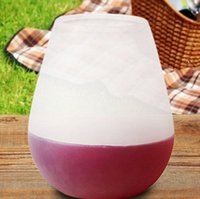 Wholesale Silicone Wine Glass Unbreakable Outdoor Stemless Beer Whiskey Portable Cups Flexible silica Rubber