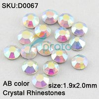 Wholesale FREESHIPPING SS6 mm Flatback Crystal Rhinestones gross AB Crystal color Dropshipping Retail SKU D0067