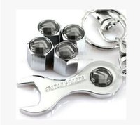 Wholesale Car Wheel Tire Valve Caps with Mini Wrench Keychain for Citroen Piece Pack