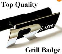 Wholesale 300pcs Good Quality VW Rline Golf Polo Passat R Line Metal Chrome Car Grill Badge emblem Volkswagen