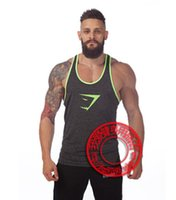 Wholesale Arrival Gym Shark Men s LoudMouth Stringer Tank Top Gymshark Bodybuilding and Fitness Singlets Sports Muscle Shirt