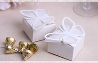 Wholesale 500PCS White candy box Creative selling wedding wedding candy packaging butterfly Wedding Favors Boxes Gift Boxes Candy Box