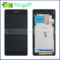 Wholesale Grade AAA LCD display For SONY Xperia Z2 L50W D6503 LCD Screen replacement with frame or without frame tim01