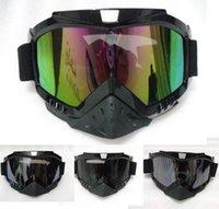 Wholesale HELMET Goggles Open face motorcycle Goggles glasses Motocross Scooter Cruiser Helmet Eyewear snow Goggles