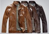 Wholesale 2014 new fashion men s leather jacket brand genuine sheepskin coat