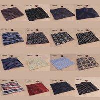 Wholesale Men Silk Satin Handkerchief British style Pocket Square Hanky Wedding Party Pocket Square