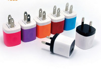 Wholesale Universal Mini USB Home AC Power Adapter Travel Charger US Plug Wall Charger Adaptor Charging For iPhone Samsung Huawe smart phone