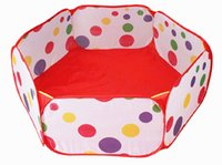 Wholesale 2015 New Kids Portable Dot Color Pit Ball Pool outdoor indoor Baby Tent Play hut
