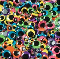 Wholesale 100Pcs box mixed sizes Wiggle Eyes Assorted Round Moving Eyes Plastic Eyes For Toy Accessories z1454