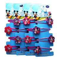 Wholesale FG1509 Cartoon Mickey Minnie Mouse Designs Girl Hair Accessories Hairpin clips Child Hair Accessory set Xmas Gift