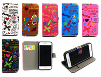 alpha girls - Cut Cartoon Magic Girl Wallet Flip PU Leather Case Stand TPU Cover For iPhone S Plus Samsung Galaxy S6 Edge Alpha G850 Grand Prime G530