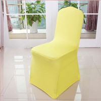 Wholesale Hot Sale Universal White Chair Covers Spandex For Wedding White Banquet Chair Covers many Color