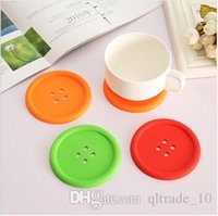 Wholesale 2000pcs CCA2020 Hot Sale Cute Colorful Silicone Button Coaster Cup Cushion Holder Drink Placemat Mat Household Bottle Insulated Cushion