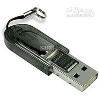 Wholesale Compat USB2 Tiny T Flash TF Memory READER mini sd MICRO SD SDHC TF CARD READER GB GB