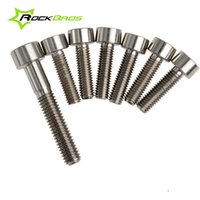 allen head screws - Rockbros Stem Titanium Ti Bolts Screw Allen Head Upgrade Kit M5 x mm Allen Head Aheadset Stem Hexagon Bolts M6 x mm