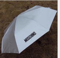 Wholesale New Women Men Mo schino Sunny and Rainy Umbrella Sun uv protection vinyl sunshade anti uv umbrella Umbrella Free DHL