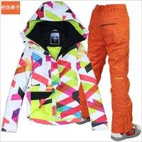 Wholesale Gsou women s snow female snowboard suit ski set jacket pants woman winter sport wear Diamond W P W V P10000 Size XS L